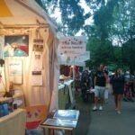 Kiosque de Line Blouin au Mondial des Cultures